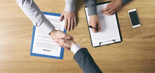 Businessman Employed After A Job Interview